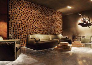 Деревянная отделка элементов интерьера