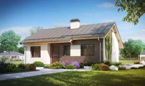 Проекты одноэтажных домов из кирпича