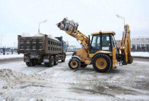 Вывоз снега с территории с погрузкой